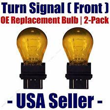 Front Turn Signal/Blinker Light Bulb 2pk Fits Listed Chrysler Vehicles 3757NAK