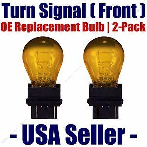 Front Turn Signal/Blinker Light Bulb 2pk Fits Listed Cadillac Vehicles - 3757NAK