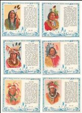 6 1954 REDMAN TOBACCO T129 AMERICAN INDIAN CHIEFS CARDS #'S 24-25-26-27-28-29