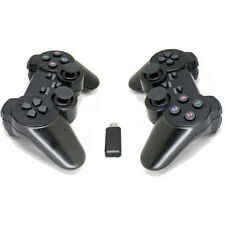 2x 2.4G USB Wireless Dual Shot Gamepad Game Controller Joystick For PC Laptop