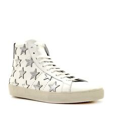 Saint Laurent YSL Sneaker High Top SL/06M White Leather Size 10.5 New