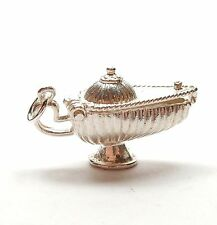 Vintage 925 Sterling Silver ALADDINS LAMP OPENS TO GENIE Charm Pendant 4.1g