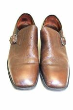 VTG 1970s Mens Freeman Freeflex Shoes Buckle Brown Leather  Slip On EUC 10 D