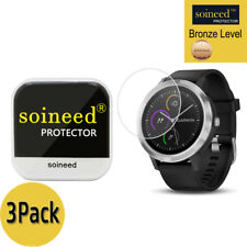 [3 Pack] SOINEED Tempered Glass Screen Protector Film For Garmin vivoactive 3