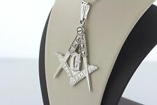 Vintage 10K White Gold Masonic G Compass Symbol Charm Pendant