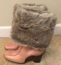 Woman's Timberland Pink Leather/Fur Heel Slip-on Boots Size 7.5