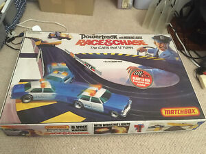Matchbox Powertrack Race & Chase Toy Car Racing Set 80s