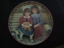 Chantal Poulin Collector Plate Sisters Are Blossoms - numbered