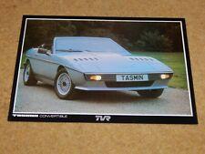 Genuine TVR TASMIN (280i) CONVERTIBLE card brochure (Oct 1982)