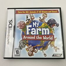 My Farm Around the World Nintendo DS 2009 Complete Game Manual Case