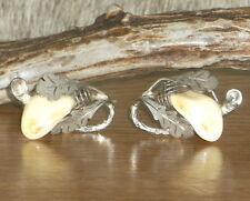Gorgeous Vintage 14k Gold Genuine Deer Tooth (Grandeln) Cufflinks, Marked 585.