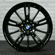 "FOUR Genuine BMW 3 Series E90 E92 MV3 Alloy Wheels 18"" VIPER BLACK PCD 5 x 120"