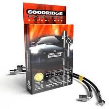 Goodridge Black Braided Brake Line Hoses For Honda Civic Type R FK2 2.0T VTEC
