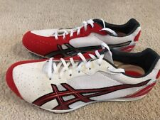 NWOB Asics Japan Thunder 3 Track Spikes Men's 11 White Red