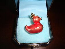 NEW JUICY COUTURE PINK RUBBER DUCKIE CHARM FOR BRACELET NECKLACE OR HANDBAG