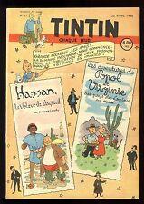 Journal de TINTIN belge  1948   n°17  Couverture de HERGE