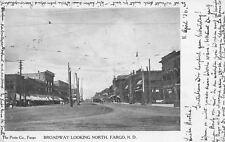 Fargo North Dakota~Furniture Store~Trolleys & Bicycles Share Dirt Brdwy 1906