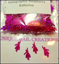 Holographic Raspberry Ballerina Spangle ~ Nail Art/Crafts~ USA