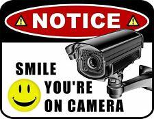 Notice Smile You're on Camera (v1) Security Sign sp36