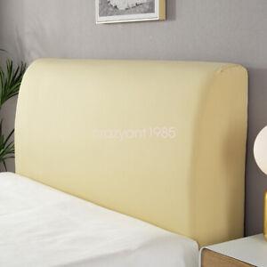 Protector Elastic Dustproof Cover Comfortable Headboard Slipcover Solid Color