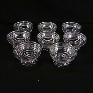 Crystal Depression Manhattan Pattern Berry Bowl