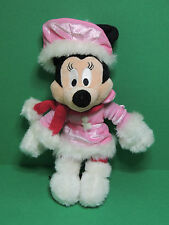Minnie tenue robe d'hiver rose Peluche Disneyland Paris Disney soft toy plush