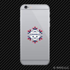 Arkansas Snowflake Cell Phone Sticker Mobile AR snow flake snowboard skiing skii