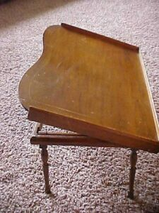 Antique Vintage Folding Wooden Bed Lap Breakfast Table Tray