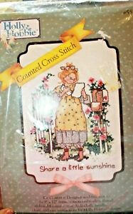 Holly Hobbie Counted Cross Stitch Kit Share a Little Sunshine
