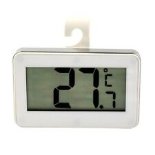 White Digital LCD Electronic Fridge Freezer Room Thermometer with Magnet Hook