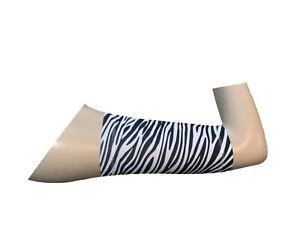 PICC line cover Freestyle libre sleeve Lycra armband diabetes chemo ZEBRA LYCRA