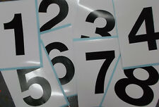 Show Jumping Marker stickers x 8 Numbers 1234 5678 150x200mm (160-N8)