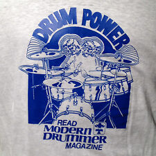 Promo Drum Power Modern Drummer Magazine Ringer Band Tour T Shirt Vintage Rare