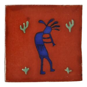 Timo - Handmade Mexican Ceramic Talavera Large 10.5cm Tile Ethically Sourced