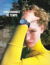 ▬► PUBLICITE ADVERTISING AD MONTRE WATCH portée sur mannequin BLANCPAIN 1991