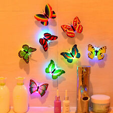 Butterfly 3D Wall Sticker LED Light Glowing Home Children Kids Room Decoration