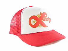 Lucky Lager beer hat Trucker Hat mesh hat snapback hat red new