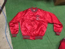 Vintage Retro mens Satin jacket UNLV REBELS size L Large RED retro old school