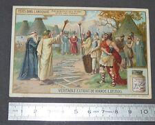 CHROMO LIEBIG OXO 1908 FETES ANTIQUITE BENEDICTION DES EPEES CHEZ CELTES DRUIDE