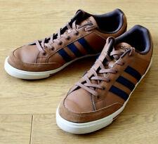 Adidas Neo Comfort Footbed Men's Brown Leather Skate Shoes UK 10 EU 44.5 US 10.5