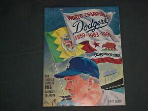 1966 LOS ANGELES DODGERS YEARBOOK - B 6470