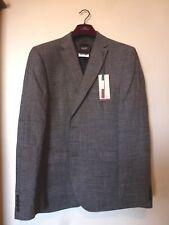 NEXT Tailoring Shark Skin Italian Linen Suit Jacket 44R BNWT RRP £100 Mid Grey