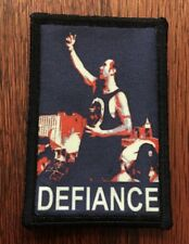 Las Vegas Shooter DEFIANCE Morale Patch Tactical Military Army Flag Badge Hook