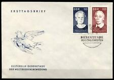 Marie Sklodowska-Curie und Käthe Kollwitz. FDC. DDR 1967