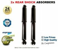 2x REAR AXLE Shock Absorbers for OPEL COMBO Tour 1.4 CNG 2012->on