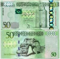 LIBYA 50 DINARS 2013 P 80 UNC
