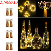 Xmas LED Cork Shaped 20 30 50 LED Night Fairy String Light Wine Bottle Lamp US
