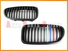 M Tri Matte Black Front Kidney Gril Grille For 11-16 BMW F10 520i 528i 535i 550i