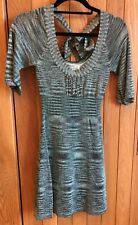 Gorgeous Guess Teal Aquamarine Sparkly Body Con Dress, Size XS, UK 6, BNWT