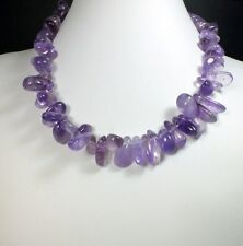 "Amethyst Loose Strand Beads ""Hawaiian"" (EA343) crystal gem healing reiki holiday"